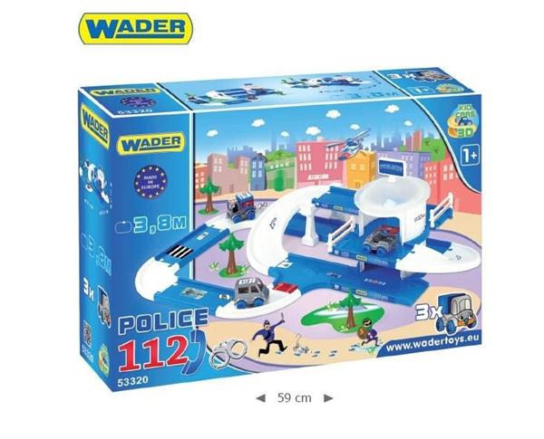 Kid Cars 3D Policie plast 3,8m Wader, 12m+