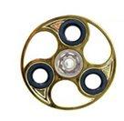 Fidget Spinner zlatý v atraktivním tvaru, chrom, kvalitní kovový v PVC boxu