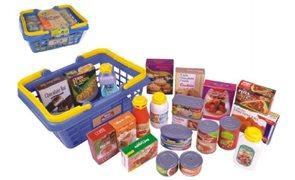 Nákupní košík s potravinami 23 ks