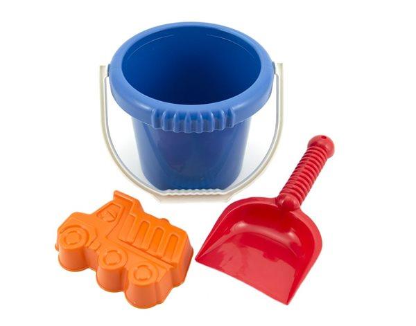 Sada na písek - kbelík, lopatka, bábovka plastové