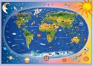 Puzzle  dětská mapa světa, 100 XL dílků