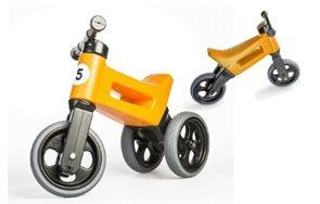 Odrážedlo FUNNY WHEELS NEW SPORT 2v1 oranžové