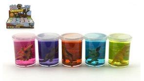 Sliz - hmota dinosaurus 6cm, mix 6 barev a motivů