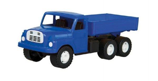 Auto nákladní Tatra 148 s valníkem, plastová 30cm - modrá, Sleva 17%