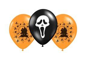 Balónek nafukovací s potiskem Halloween 3 ks