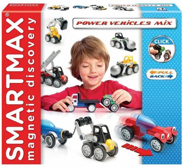 Stavebnice SmartMax - mix vozidel - 25 ks