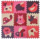 Pěnové puzzle Zvířata červená-růžová SX (30x30)