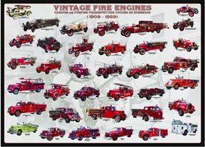 Puzzle Vývoj hasičských vozů 1000 dílků