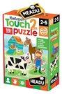 Hmatové puzzle Farma 19x2 dílky (Montessori)