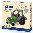 Stavebnice Seva Doprava Traktor plast, 384 dílků