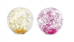 Míč plážový glitter transparentní průměr 71cm, mix 2 barev