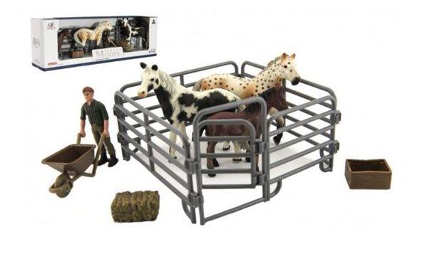 Zvířátka domácí z farmy - kůň s doplňky, mix druhů