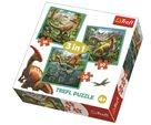 Puzzle Neobyčejný svět dinosaurů 3 v 1 (20,36,50 dílků)