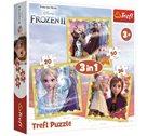 Puzzle Ledové království 2: Síla Anny a Elsy 3v1 (20,36,50 dílků)