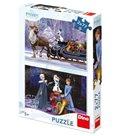 Puzzle - Ledové království II - Vánoce 2× 77 dílků