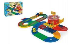 Garáž+dráha Kid Cars přestupní stanice 5m