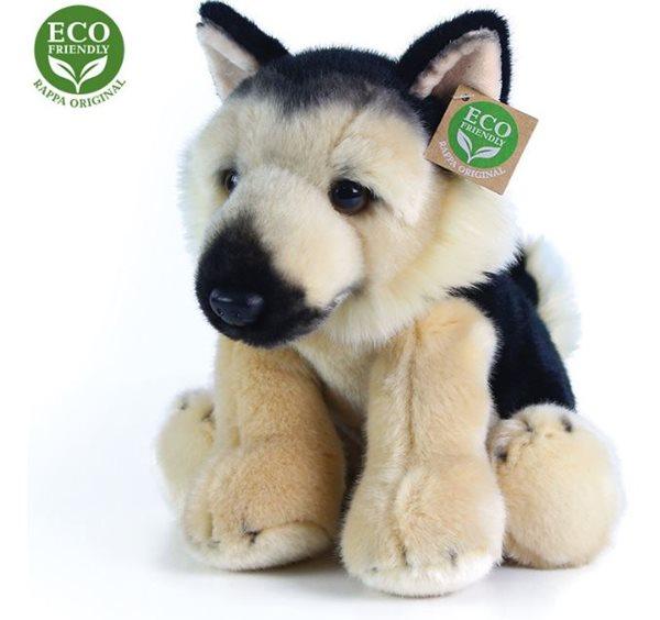 Plyšový pes neměcký ovčák sedící, 30 cm