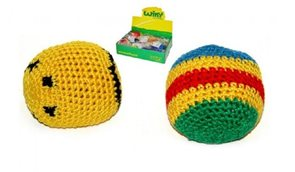 Hakysák míček footbag 6cm háčkovaný textilní