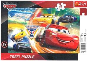 Puzzle deskové Cars - Boj o vítězství 33 x 23 cm, 15 dílků