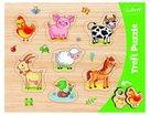 Vkládačka/ Puzzle obrysové zvířátka farma
