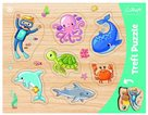 Vkládačka/ Puzzle obrysové zvířátka mořský svět