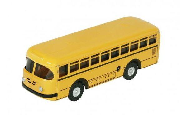 Autobus retro na klíček kov 19cm žlutý - Kovap