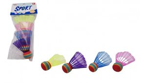 Míčky/ Košíčky na badminton barevné 4 ks