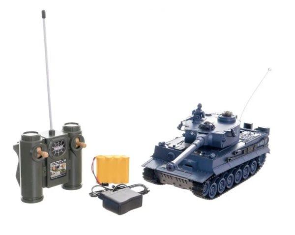 Tank RC plast 33 cm TIGER I na baterie+dobíjecí pack 40 MHz se zvukem a světlem , Sleva 16%