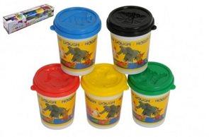 Modelína/ Plastelína v kelímku 5 ks mix barev