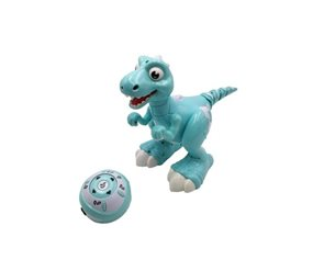 Dinosaurus RC chodící a tancující plast 30 cm na baterie se světlem se  zvukem
