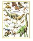 Puzzle Dinosauři z jurského období 1000 dílků
