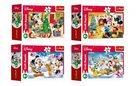 Minipuzzle Vánoce s Mickeym 54 dílků, mix 4 druhů