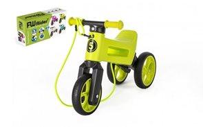 Odrážedlo FUNNY WHEELS Rider SuperSport zelené 2 v 1+popruh
