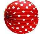 Lampion papírový kulatý červený, 25 cm