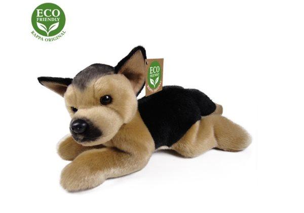 Plyšový pes Neměcký ovčák ležící, 25 cm