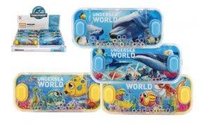 Vodní hra hlavolam 15 x 7 cm plast mořský svět, mix druhů