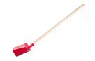 Lopata/ Lopatka červená kovová s dřevěnou násadou 80 cm