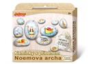 Malování na oblázky/ kameny s příběhem Noemova archa kreativní sada