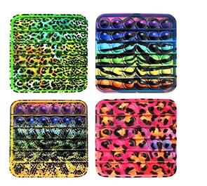 Bubble pops - Praskající bubliny silikon antistresová spol. hra 12,5 x 12,5 cm, mix