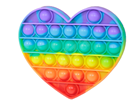 Bubble pops - Praskající bubliny silikon antistresová spol. hra, srdce duha