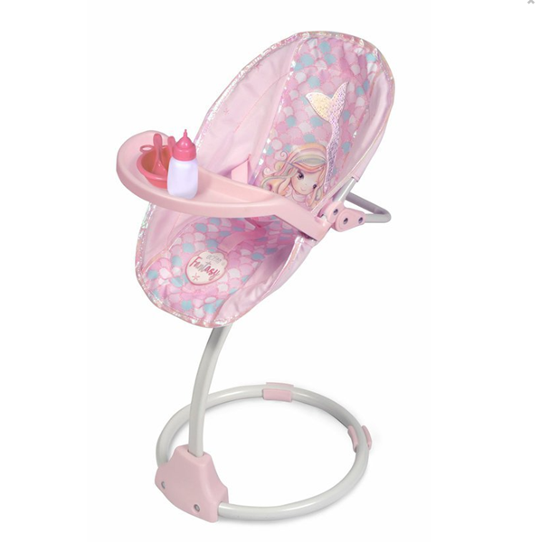 DeCuevas Multifunkční jídelní židlička a houpačka pro panenky 3 v 1 Ocean Fantasy 2021