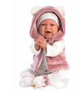 Llorens 74070 NEW BORN - realistická panenka miminko se zvuky a měkkým látkovým tělem - 42 cm
