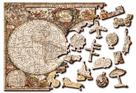 Dřevěné puzzle Antická mapa světa 2 v 1, 150 dílků EKO