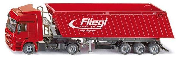 SIKU Super - Kamion s vyklápěcím vlekem červený, 1:50, Sleva 11%
