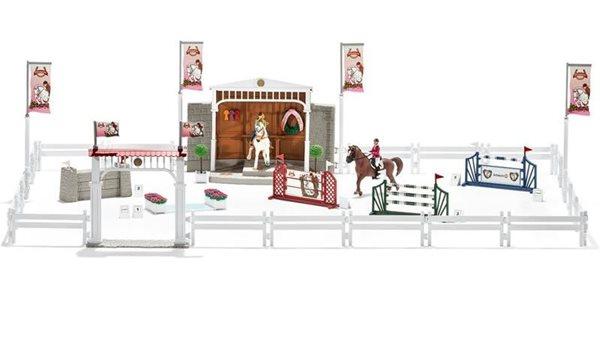 Schleich 42338 Velké parkurové závodiště s koňmi