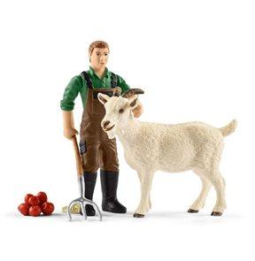 Schleich 42375 Farmář s kozou