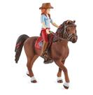 Schleich 42539 Zrzka Hannah s pohyblivými klouby na koni