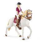 Schleich 42540 Blondýna Sofia s pohyblivými klouby na koni