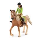 Schleich 42542 Černovláska Sarah s pohyblivými klouby na koni