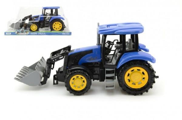 Modrý traktor s radlicí 42cm na setrvačník